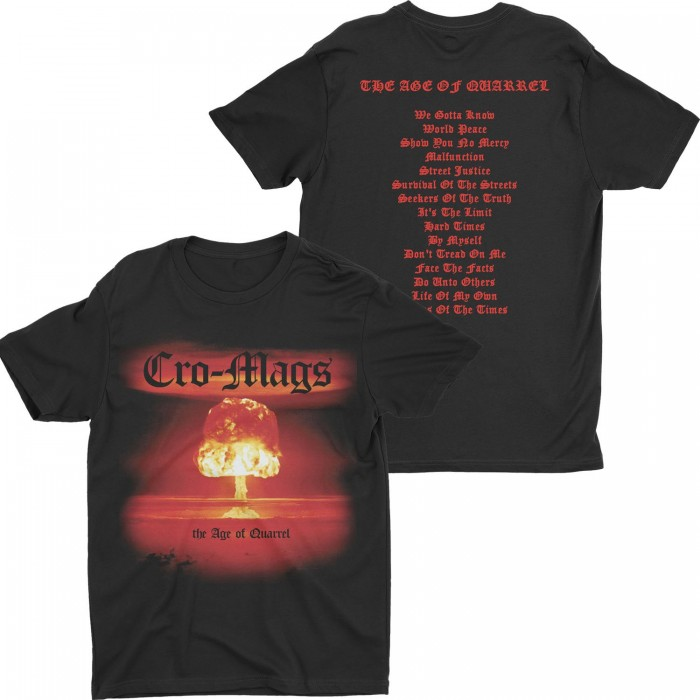 Official Merchandise CRO-MAGS - THE AGE OF QUARREL