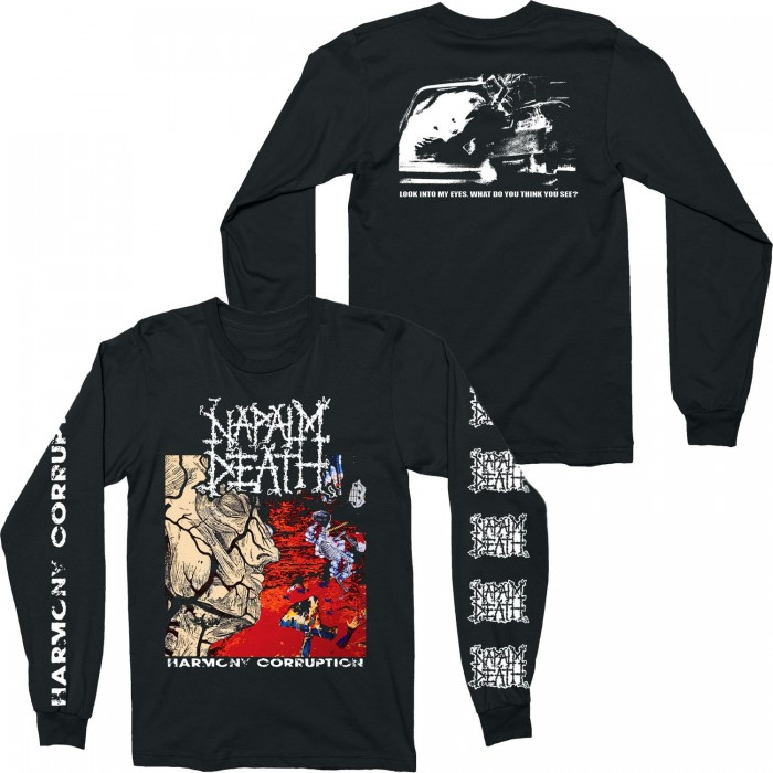 Official Merchandise NAPALM DEATH - HARMONY CORRUPTION LONG SLEEVE