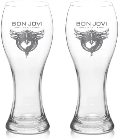 Official Merchandise  Bon Jovi 30th Pilsner Beer Glass Set