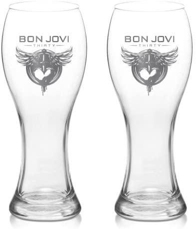 Bon Jovi 30th Pilsner Beer Glass Set