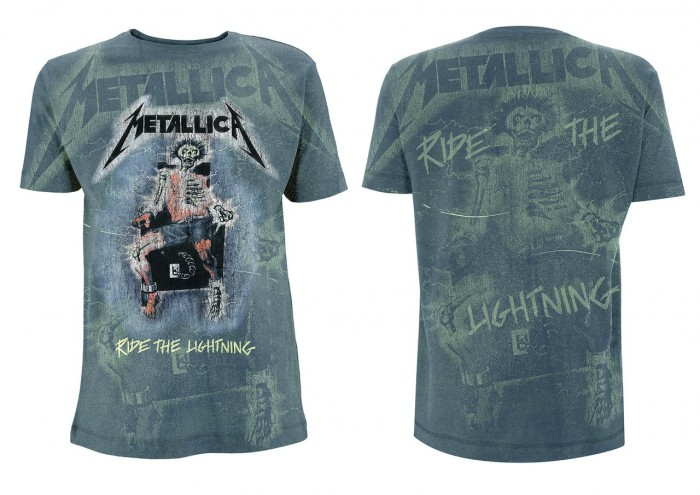 Official Merchandise METALLICA - RIDE THE LIGHTENING INDIGO