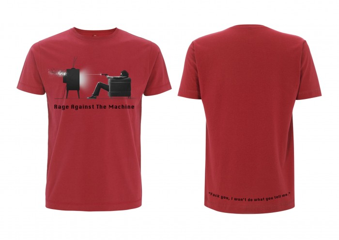 Official Merchandise RAGE AGAINST THE MACHINE - WON'T DO RED